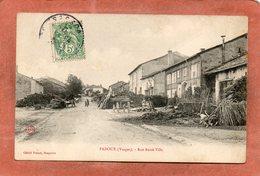 CPA - PADOUX (88) - Aspect Des Extérieurs De Fermes De La Rue Basse En 1907 - France