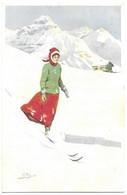 Illustrateur Pellegrini Skieuse Vouga & Cie, Editeurs, Genève, Suisse. N° 138 - Illustrateurs & Photographes