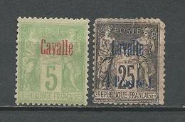 CAVALLE Scott 2(*), 5obl Yvert 2(*), 6obl (2) O Et * 40,00 $ 1893-1900 - Oblitérés