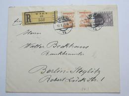 1930 , Ganzsache Als Einschreiben Aus Wien Nach Berlin, Privatganzsache - Briefe U. Dokumente