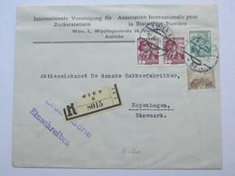 1934 , Einschreiben - Drucksache Aus Wien Nach Dänemark - Briefe U. Dokumente