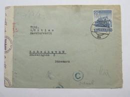 1940 , 25 Pfg. WHW Auf Zensurbrief Aus Wien Nach Kopenhagen - Briefe U. Dokumente