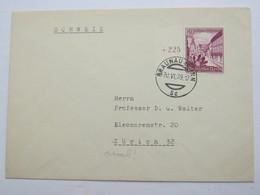 1939 , 40 Pfg. WHW Auf Brief Aus Braunau Nach Zürich - Briefe U. Dokumente