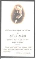 Souvenir De Pierre Adrien Aloin Décédé Le 22 Mai 1938 . Pharmacien à Saint Pierre La Palud. - Religión & Esoterismo
