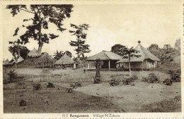 Cpa  Bangassou Village N'Zakara - Centrafricaine (République)