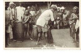 Cpa  Bangassou Tam Tam Indigène - Centrafricaine (République)