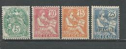 DEDEAGH Scott 9-11, 15 Yvert 10-13 (4)  * 16,00 $ 1902 - Dédéagh (1893-1914)