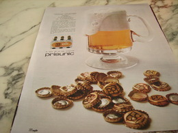 ANCIENNE PUBLICITE BIERE PP DE PRISUNIC 1968 - Alcools