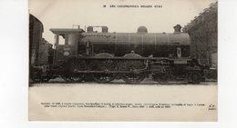 LES LOCOMOTIVES (Belgique) Machine N°4025 Pour Trains Express Lourds Ligne Bruxelles-Cologne. - Trains