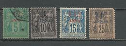 ZANZIBAR Scott 1-3, 5 Yvert 1-3, 5 (4)  O Et * 55,00 $ 1894-6 - Zanzibar (1894-1904)