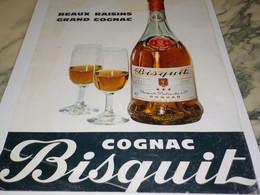ANCIENNE PUBLICITE BEAUX RAISIN GRAND COGNAC BISQUIT 1968 - Alcools