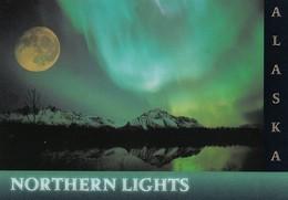 ALASKA, 1980s; Northern Lights, Aurora Borealis, Full Moon - Other