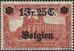 German. Country Post In Belgium 8 With Hinge 1914 Germania - Germany