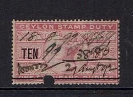 CEYLON...early Queen Victoria REVENUES...1888+ - Ceylan (...-1947)