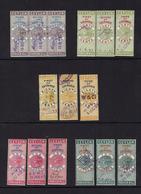 CEYLON...early Queen Victoria REVENUES...1894...sets Of Three Parts - Ceylan (...-1947)