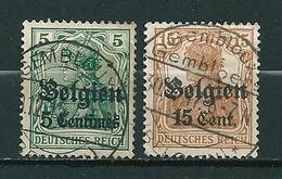 BZ/OC 2 + 15 Gestempeld (brugstempels) GEMBLOUX (Gembloers) - Weltkrieg 1914-18