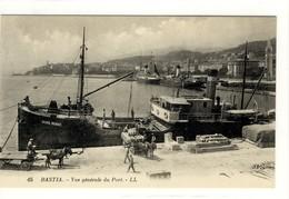 Carte Postale Ancienne Bastia - Vue Générale Du Port - Bateau, Cargo André Mermet - Bastia