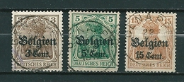 BZ/OC 11/12 + 15 Gestempeld GENAPPE - Weltkrieg 1914-18