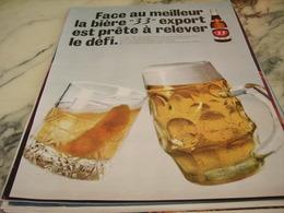 ANCIENNE PUBLICITE BIERE 33 EXPORT 1968 - Alcools