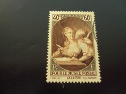 """1939   -timbre Oblitéré N°  446  """"  Musee Postal, La Lettre     """"         Côte    3.85           Net  1.20 - Oblitérés"""