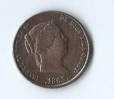Espagne Isabelle II 25 Centimos 1863 Ségovie - Monnaies Provinciales