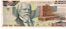 Mexico P.86c 2000 Pesos 1989 Unc - Mexique