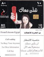 EGYPT - Young Girl, Telecom Egypt Telecard 10 L.E., CN : G206, Chip GEM3.3, Used - Egypt