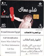 EGYPT - Little Girl, Telecom Egypt Telecard 5 L.E., CN : G203, Chip GEM3.1, Used - Egypt