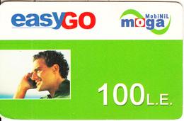 EGYPT - EasyGo, MobiNil Moga Prepaid Card(paper) 100L.E., Used - Egypt