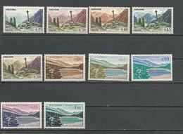 ANDORRE FRANCAIS Scott Entre 147 Et 166A Yvert Entre 158 Et 164 (10)  * 50,00 $ 1961-71 - Neufs