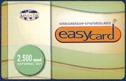 ARMENIA ARMENTEL EASYCARD 2500 DRAM RECHARGE PRE-PAID PHONECARD TELEPHONE CARD TELECARTE VERY GOOD - Arménie