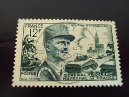 "1954   -timbre Oblitéré N°  984  ""   Leclerc 12 F Vert    ""        Net 1.50 - France"