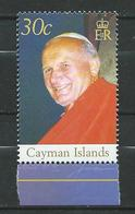 Cayman Islands 2005 Pope John Paul II Commemoration.MNH - Kaaiman Eilanden