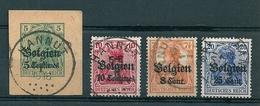 BZ/OC 2/3 + 13 + 18 Gestempeld HANNUT - Weltkrieg 1914-18