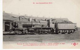 LES LOCOMOTIVES (Midi) Machine N°1775 Pour Trains Express Construite En 1900. - Trains