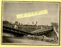Originele Foto GERAARDSBERGEN 1940 - Vernielde Brug WO II (afmetingen 23x17 Cm) - Geraardsbergen