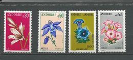 ANDORRE FRANCAIS Scott 222, 224, 238 Yvert 229, 230,245, 235 (4)  ** 6,00 $ - Neufs