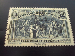 """1939   -timbre Oblitéré N°444    """"  Serment Du Jeu De Paume     """"       Net 1 - Frankreich"""