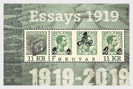 Faroer  Faroyar  2019  PROVISION ESSAYS    ZEGEL OP ZEGEL BLOK   Postfris/mnh/neuf - Faeroër