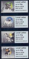 Faroer  Faroyar  2018  AUTOMAATZEGELS ATM  DOGS MACAU STRIP    Postfris/mnh/neuf - Faeroër