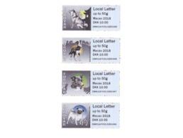 Faroer  Faroyar  2018  AUTOMAATZEGELS ATM  DOGS MACAU STRIP REPRINTS NEW VALUES !!!!     Postfris/mnh/neuf - Faeroër