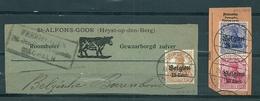"BZ/OC 14/15 + 18 Op Fragment Gestempeld HEIST-OP-DEN-BERG Met Stempel ""Freigegeben Ueberwachungsstelle Mechelen"" - Weltkrieg 1914-18"