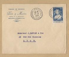 N° 813 Sur Doc Convocation Conseil De Famille Courson Les Carrières 16/11/49 Vers Clamecy - Marcophilie (Lettres)