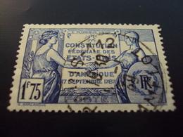 """1937   -timbre Oblitéré N° 357   """" Constitution Des Etats Unis      """"    Net 1 - Frankreich"""