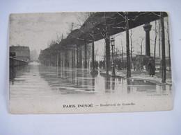 CPA 75 PARIS INONDE Boulevard De Grenelle Animée TBE - Inondations De 1910