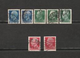 Italie - Lot De 7 Timbres Victor Emmanuel III - Année 1929 Mi IT 309 X Mi IT 304 X Mi IT 308 X - 1900-44 Victor Emmanuel III
