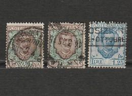 Italie - Lot De 3 Timbres Victor Emmanuel III - Année 1901 Mi IT 83 - Année 1926 Mi IT 242 A - 1900-44 Victor Emmanuel III