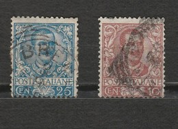 Italie - 2 Timbres Victor Emmanuel III - Année 1901 - Mi IT 79 - Mi IT 77 - 1900-44 Victor Emmanuel III