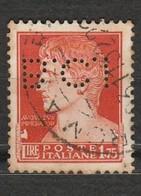 Italie - 1 Timbre Empereur Auguste 1.75 Lire Perforé B.C.I - Année 1929 -  Mi IT 310 - Italien