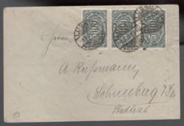 Deutsches Reich Infla Brief 1923 Lugau Nach Schneeberg MEF 256 Lot 552D - Deutschland